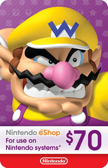 Picture of Nintendo eShop Gift Card $70 (Digital Code)