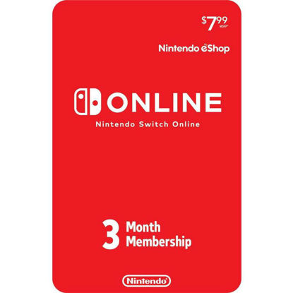 Picture of Nintendo Switch Online 3-Month Individual Membership (Digital Code)