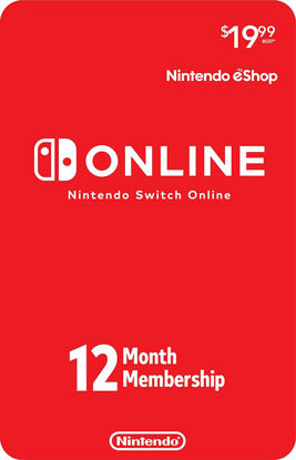 Picture of Nintendo Switch Online 12-Month Individual Membership (Digital Code)