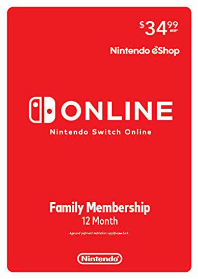 Picture of Nintendo Switch Online 12-Month Family Membership (Digital Code)