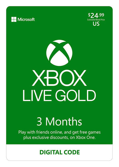 Picture of Xbox Live Gold: 3 Month Membership (Digital Code)