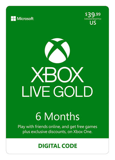 Picture of Xbox Live Gold: 6 Month Membership (Digital Code)