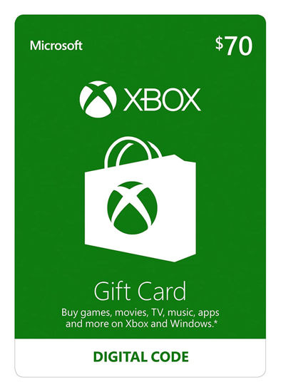 Picture of Xbox Gift Card $70 (Digital Code)