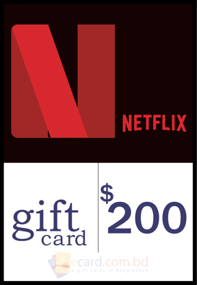 Picture of Netflix $200 Gift Card (US Region)