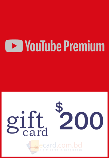 Picture of YouTube Gift Card $200 (US Only)