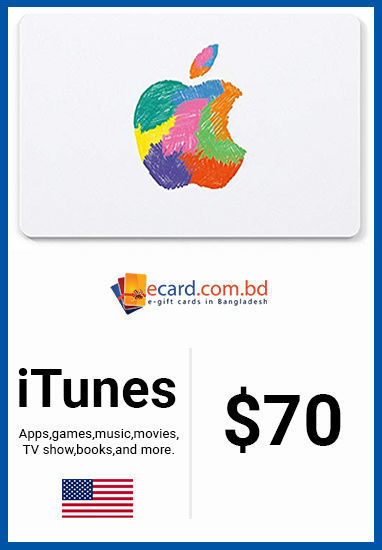 Picture of iTunes Gift Card $70 (Digital Code)