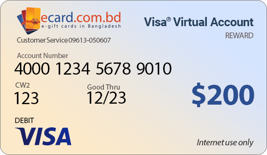 Picture of Virtual VISA $200 Reward Card - (Email Delivery)