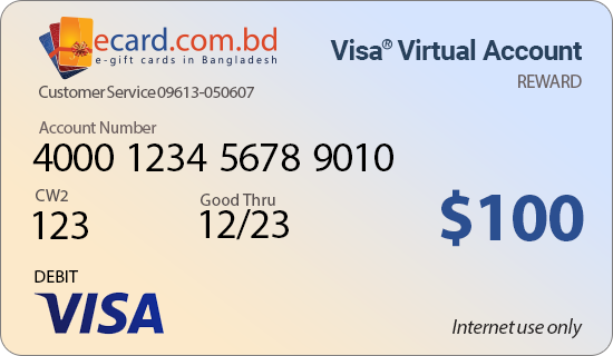 Picture of Virtual VISA $100 Reward Card - (Email Delivery)