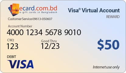 Picture of Virtual Visa $50 Reward Card - (Email Delivery)