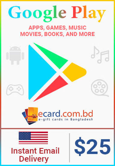 Picture of Google Play $25 Gift Card (US Only)