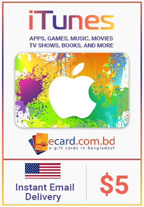 Picture of iTunes Gift Card $5 (Digital Code)