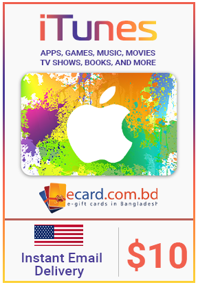 Picture of iTunes Gift Card $10 (Digital Code)