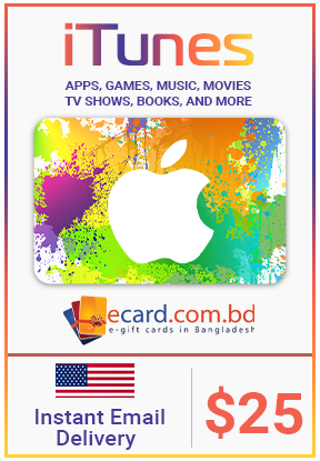 Picture of iTunes Gift Card $25 (Digital Code)