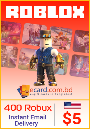 Picture of Roblox $5 Gift Card (400 Robux)