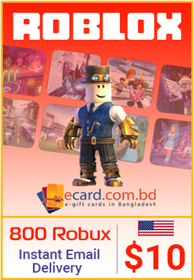 Picture of Roblox $10 Gift Card (800 Robux)