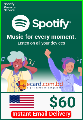Picture of Spotify $60 Gift Card