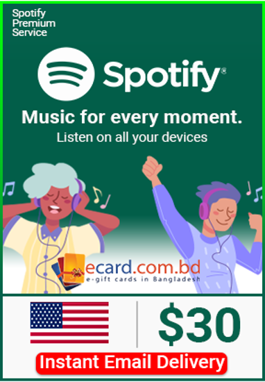 Picture of Spotify $30 Gift Card