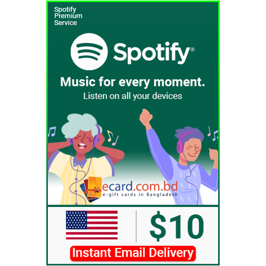 Picture of Spotify $10 Gift Card